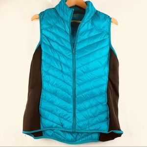 be inspired Jackets & Coats - Be Inspired Vest Green Black Down Filled Zip Up